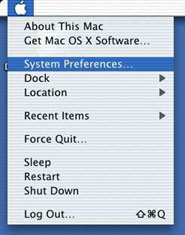 How to get to System Prefs.