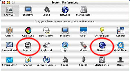 System Preferences Window